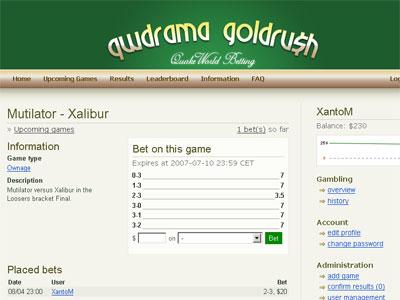 Goldrush screenshot